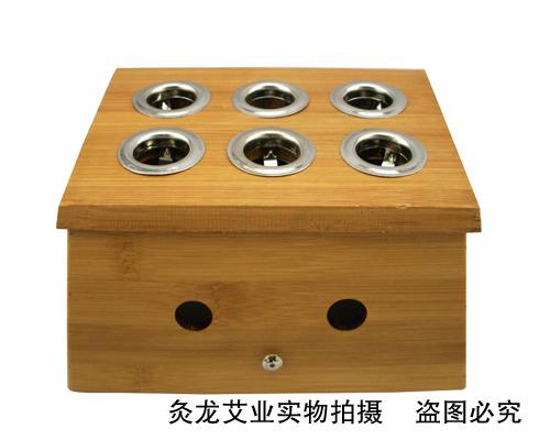 竹制六孔艾灸盒