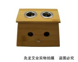 竹制双孔艾灸盒